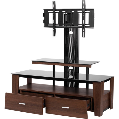 Vidao FL6850S 63 TV Stand With Mount And Drawers