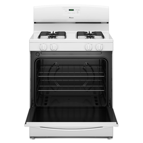 Amana 30 Quot White Freestanding Gas Range With 5 1 Cuft Oven