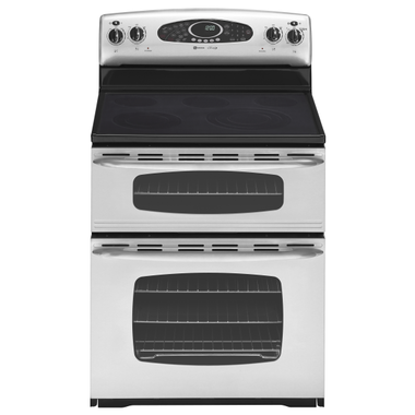 Maytag - 30 Electric Smooth Top Double Oven Range