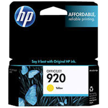 HP - 920 Yellow Officejet Ink Cartridge
