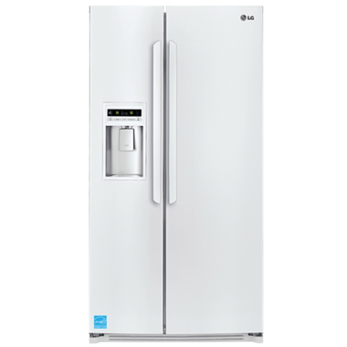 LG - 26.5 CuFt Side-By-Side Refrigerator