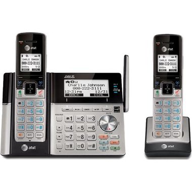 AT&T - DECT 6.0 2 Handset Cordless Phone
