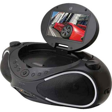 GPX - DVD/CD Portable Audio System With 7 LCD Display