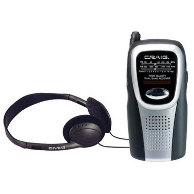 Craig - AM/FM Pocket Radio With Speaker And Headphones