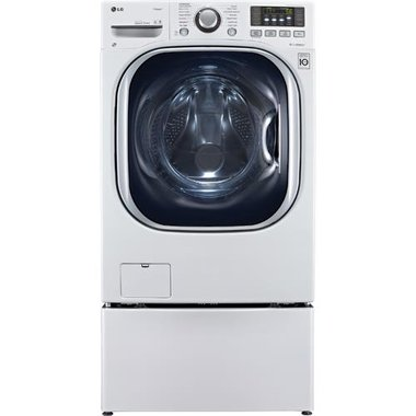 LG - 4.3 CuFt Front Load Washer And Dryer