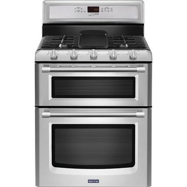 Maytag - 30 Freestanding Gas Double Oven Range