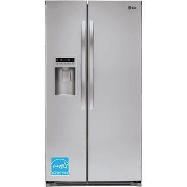 LG - 26.6 CuFt Side-By-Side Refrigerator