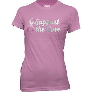 STC - Breast Cancer Awareness Rose Misses Pink Ribbon T-Shirt