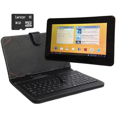 Vidao - 7 8GB Tablet With Keyboard Case And 8GB MicroSDHC Card