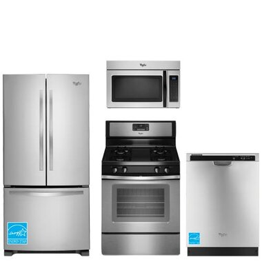 whirlpool wrf535smbm ss stainless steel complete kitchen package brandsmart usa. Black Bedroom Furniture Sets. Home Design Ideas