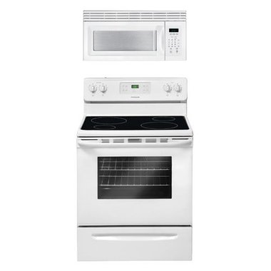 Frigidaire - 30 Electric Smooth Top Range With 1.5 CuFt Over The Range Microwave