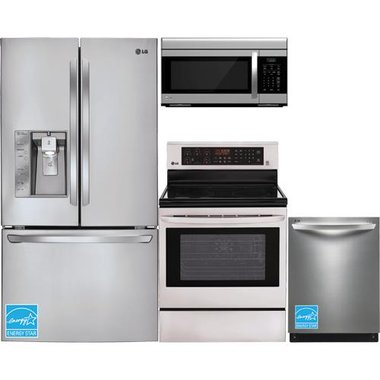 LG - Stainless Steel Complete Kitchen Package
