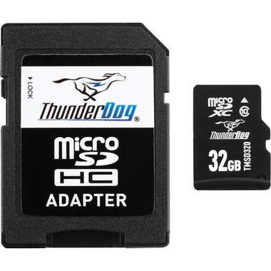 Thunderdog - 32GB Class 10 MicroSDXC Card With Adapter