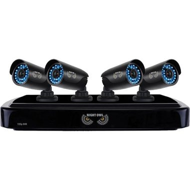 Night Owl - 4 Camera 4 Channel Video Security System
