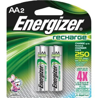 Energizer - 2 Pack Of AA Rechargeable Batteries