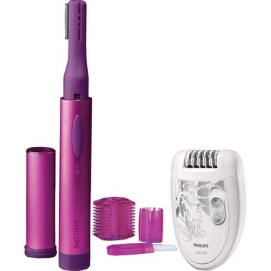 Philips - Precision Trimmer With 2 Speed Satinelle Epilator