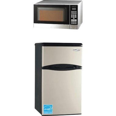 Premium - 4.5 CuFt Compact Refrigerator With 0.7 CuFt Countertop Microwave
