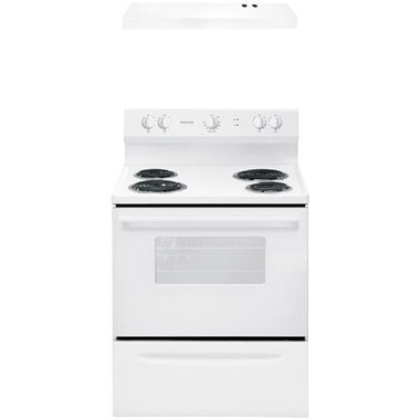 Frigidaire - 30 Electric Coil Range With 30'' Overhead Range Hood