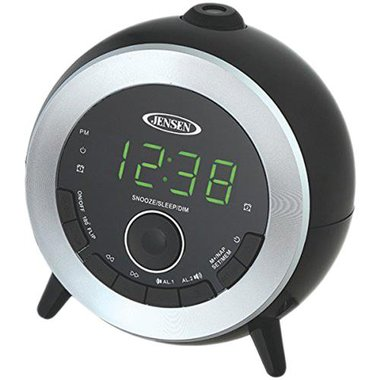 Jensen - Projection Dual Alarm Clock FM Radio