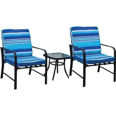 Doral Designs - Sanibel 3 Piece Relaxed Bistro Patio Group With Cushions