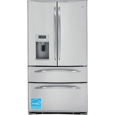 GE - 24.8 CuFt French Door Refrigerator