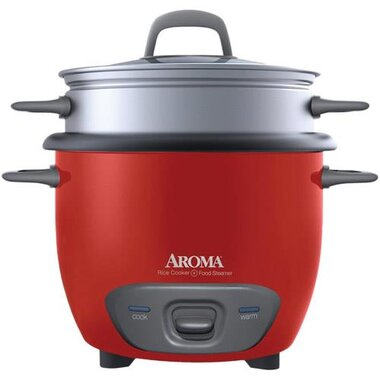 Aroma - 6 Cup Pot Style Rice Cooker & Steamer