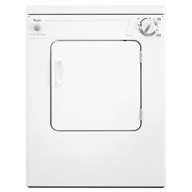 Whirlpool - 3.4 CuFt Compact Electric Dryer