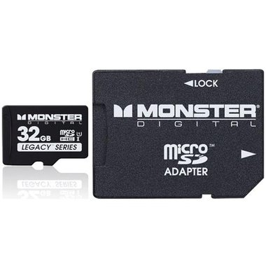 Monster - 32GB Class 10 MicroSDHC Card With Adapter