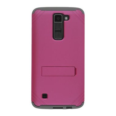 MetroPCS - LG K7 Fitted Case Silicone With Kickstand