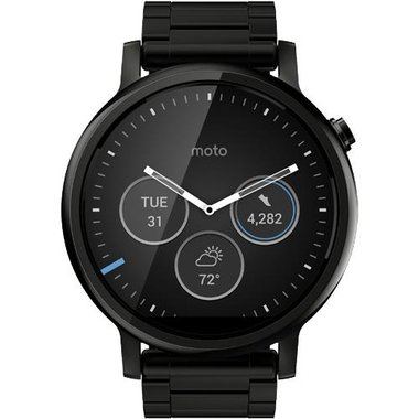 Motorola Mobility - Men's 360 Collection Stainless Steel Smartwatch