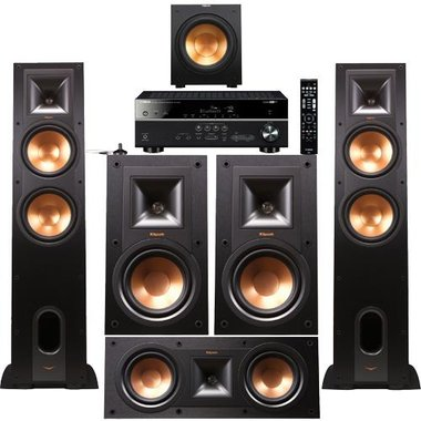 Yamaha - Receiver And 5.1 Tower Speaker Package