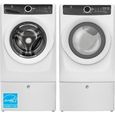 Electrolux - 4.3 CuFt Front Load Washer With 8.0 CuFt Front Load Electric Dryer