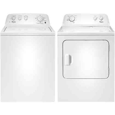 Whirlpool - 3.5 CuFt Top Load Washer With 7.0 CuFt Electric Dryer
