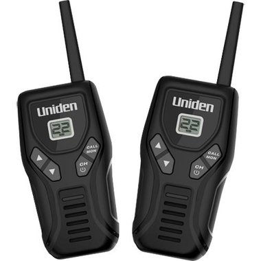 Uniden - 2 Pack Of 20 Mile GMRS Radio With Charger Cable
