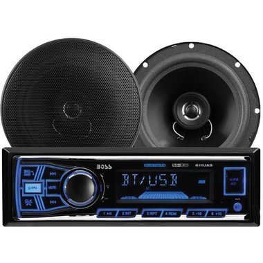 Boss Audio - Bluetooth Single Receiver With 2 6.5 Speakers