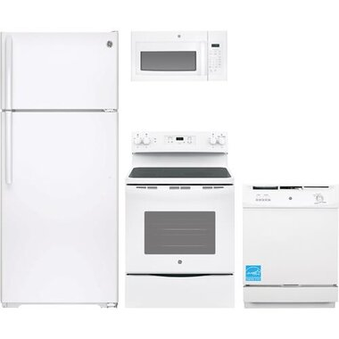GE - White Complete Kitchen Package