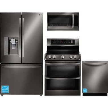 LG - Black Stainless Steel Complete Kitchen Package