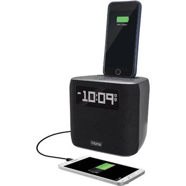 iHome - FM Clock Radio With Lightning Dock And USB Port