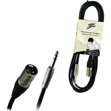 Studio Z - 10 Ft 3 Pin XLR Male To 1/4 Male Stereo Pro Audio Cable