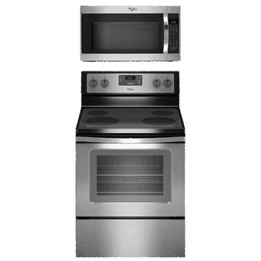 Whirlpool - 30 Electric Smooth Top Range With 2.0 CuFt Over The Range Microwave