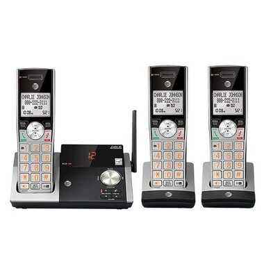 AT&T - DECT 6.0 CL82315 3-Handset Cordless Expandable Phone With Answering System