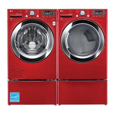 LG - 4.5 CuFt Ultra Large Capacity Front Load Washer With 7.4 CuFt Front Load Electric Dryer