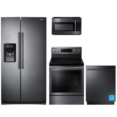 Samsung - Black Stainless Steel Complete Kitchen Package