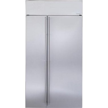Monogram - 25.4 CuFt Built-In Side-By-Side Refrigerator With Wi-Fi Connectivity