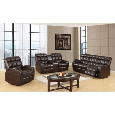 Global Furniture - Liberty 3 Piece Living Room Group