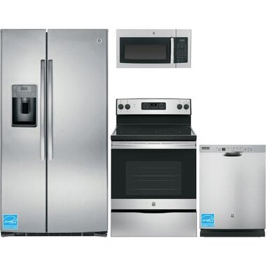 GE - Stainless Steel Complete Kitchen Package