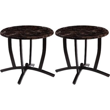 Global Furniture - End Tables With Faux Marble Top