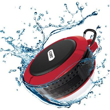 Coby - IPX5 Water-Resistant Portable Bluetooth Suction Speaker