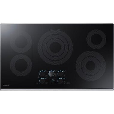 Samsung - 36 Electric Cooktop With Wi-Fi Connectivity