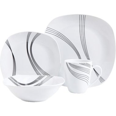 Gibson - 16 Piece Dinnerware Set For 4